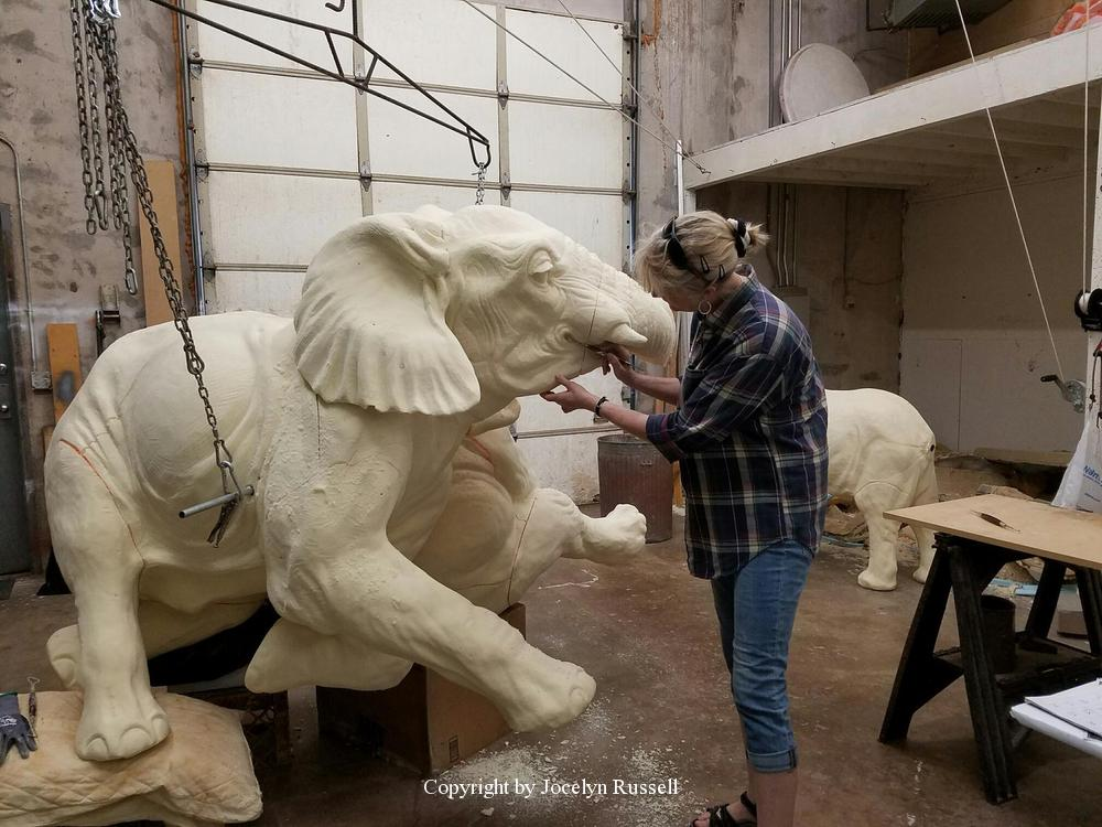 April 13, 2016 - Audubon Zoo Elephant Sculpture Project - Running Wild Studio