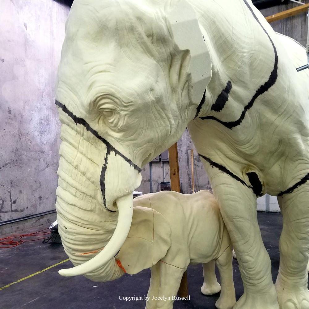 May 24, Preparing for the first layer of clay - Running Wild Studio Audubon Elephant Sculpture Elephant Zoo Sculpture