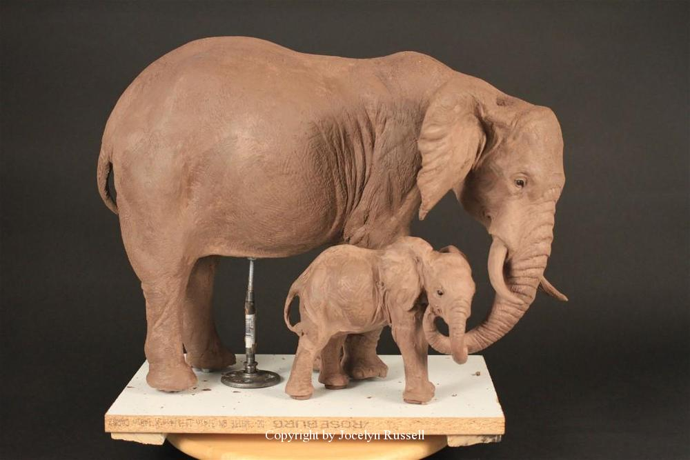 Maquette December 2015 - Running Wild Studio Audubon Elephant Sculpture Elephant Zoo Sculpture