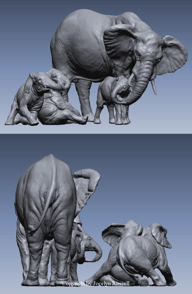 March 15, 2016 - Running Wild Studio Audubon Elephant Sculpture Elephant Zoo Sculpture