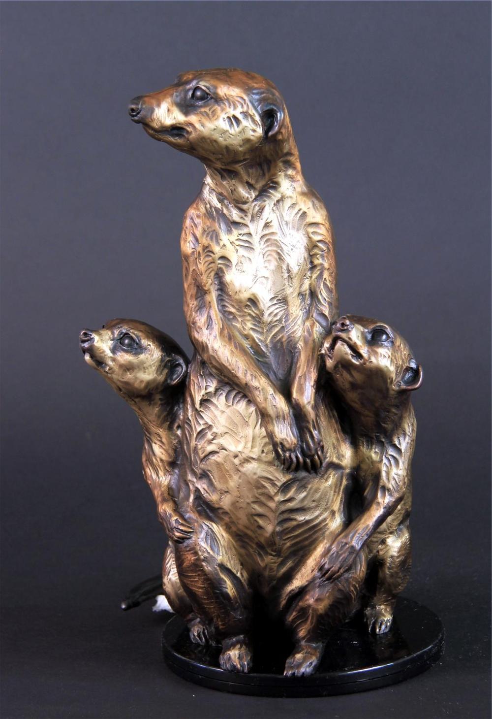 Meerkats - Audubon Zoo Meerkats Bronze Sculpture - Running Wild Studio Meerkat Sculptures New Orleans Audubon Meerkats