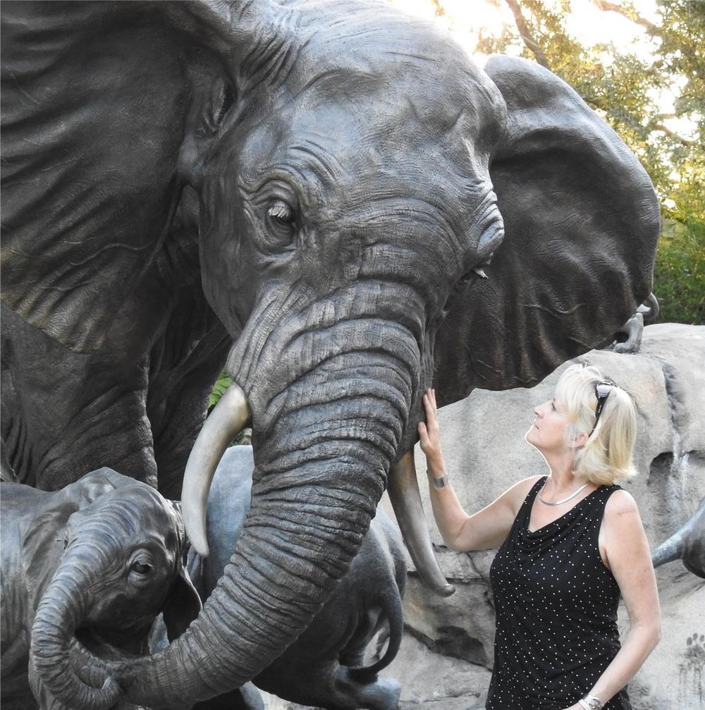 """Tefu"" 2 (Tender) – Audubon Cow/Calf Elephant- Life Size"