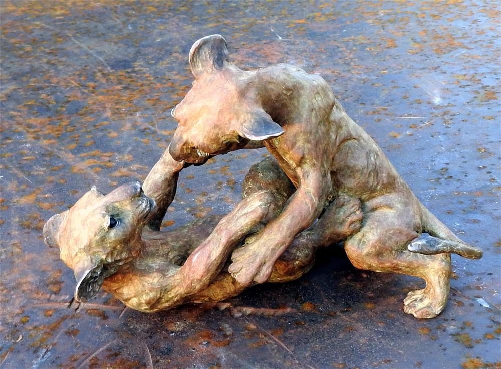 """""""Ufunzi"""" (Frisky) – Audubon Lion Cubs Maquette"""